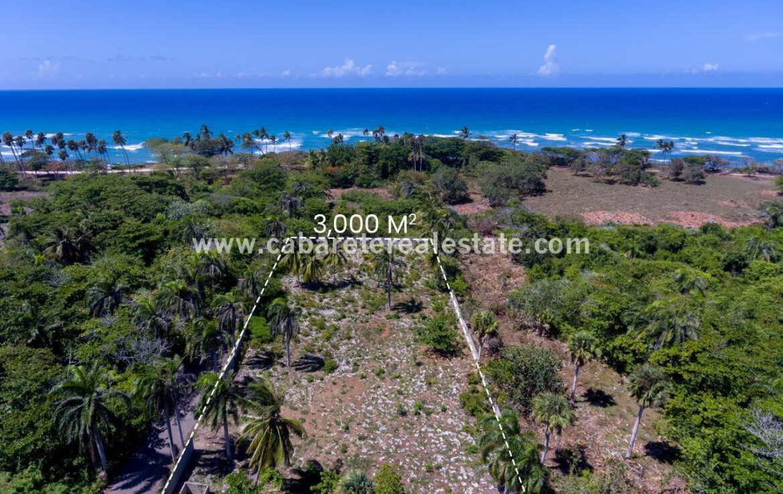 Beachside land close to surf spot Cabarete El Encuentro Dominican Republic