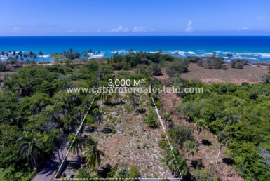 Beachside land close to surf spot Cabarete El Encuentro Dominican Republic