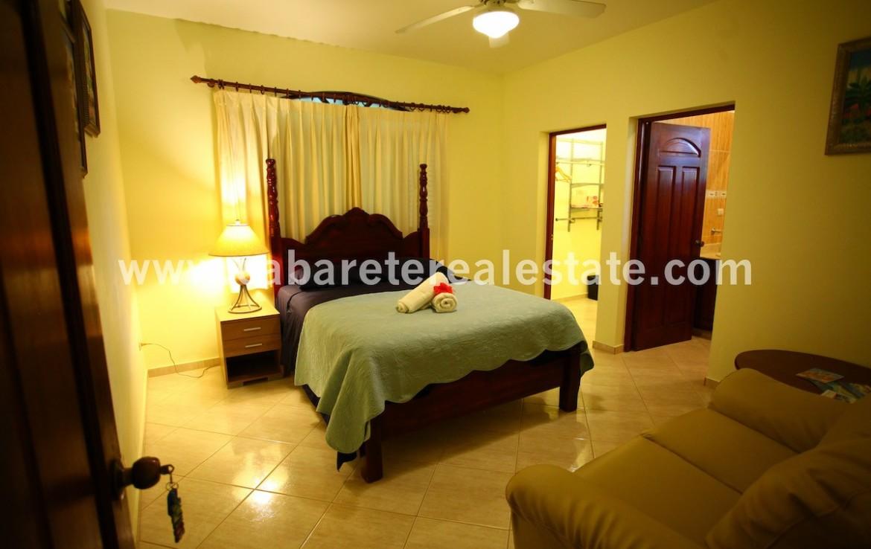 bedroom in beautiful house in cabarete