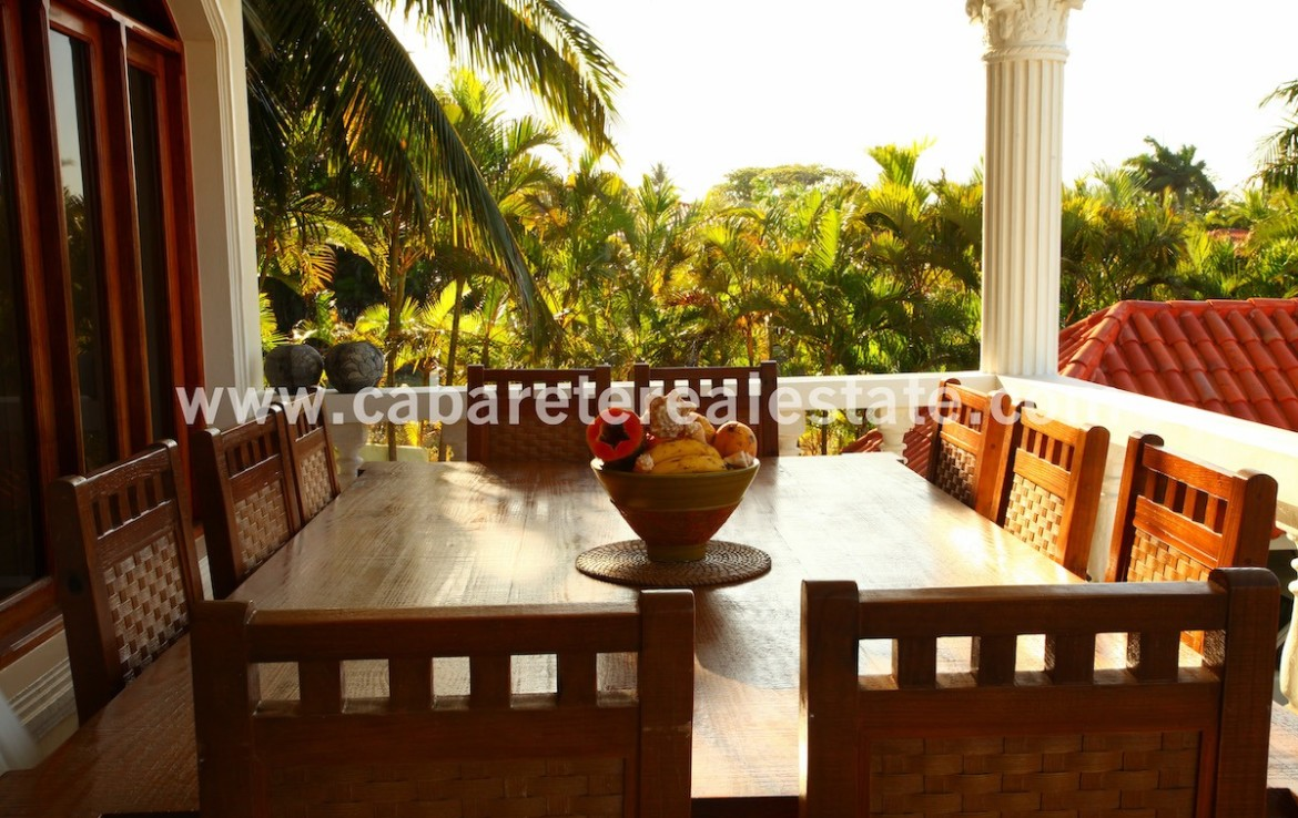 dining table with amazing view from the balcony in cabarete