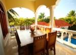 huge balcony in beautiful house in cabarete