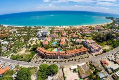 Aerial picture Ocean Dream buildings Ocean Beachfront gated community Cabarete Dominican Republic