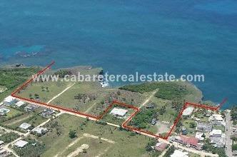 Birds eye view Oceanfront land Cabarete Real Estate Cabrera Dominican Republic