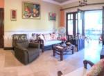 Living area one bedroom ground floor condo Perla Marina Dominican Republic