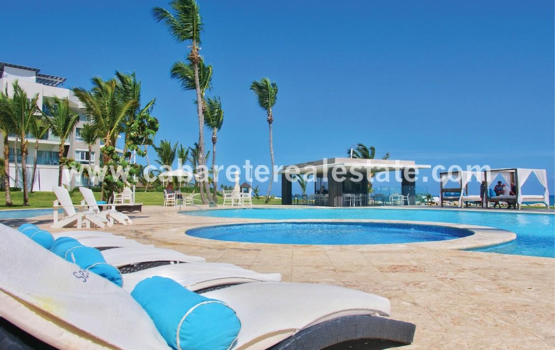 Ocean side pools Beach front gated community Cabarete Dominican Republic Cabarete Real Estate