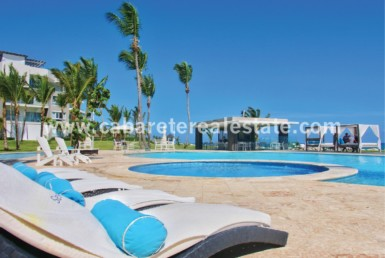 Ocean side pools Beach front gated community Cabarete Dominican Republic Cabarete Real Estate