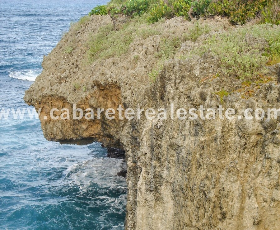 Sea cliffs Ocean front lot with endless view on the ocean Cabrera Dominican Republic