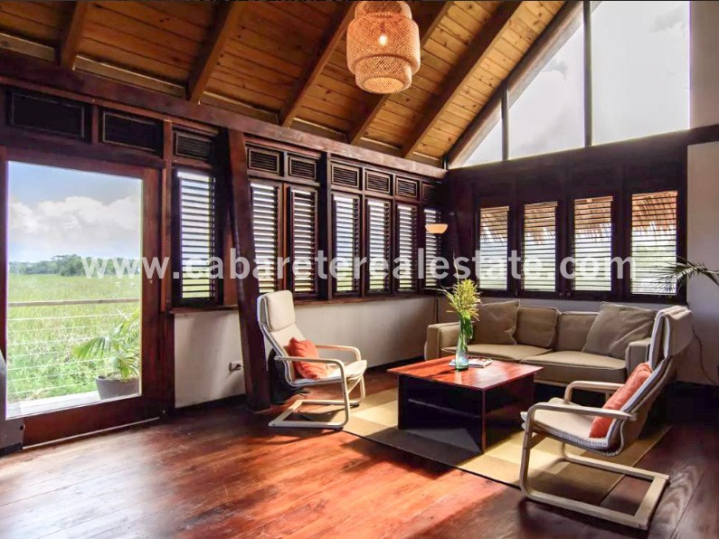 Stunning Bed and Breakfast with woodwork in living area Cabarete Dominican Republic