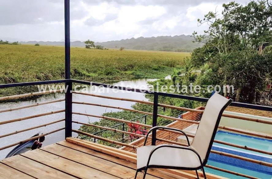 Terrace with view on lagoon and 5 miles of protected natural preserve Cabarete Dominican Republic