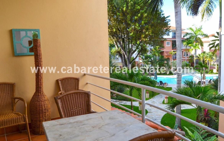 beautifull balcony with amazing garden and pool view cabarete