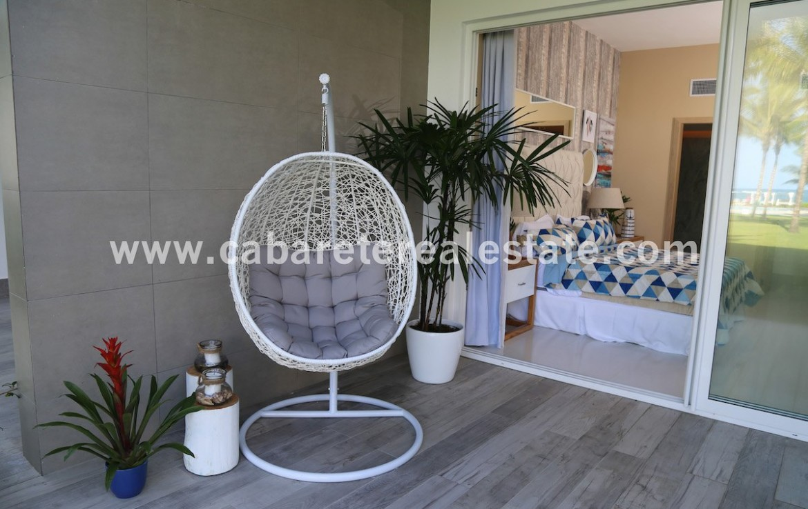 chill in front of your bedroom with amazing beachview over cabarete bay