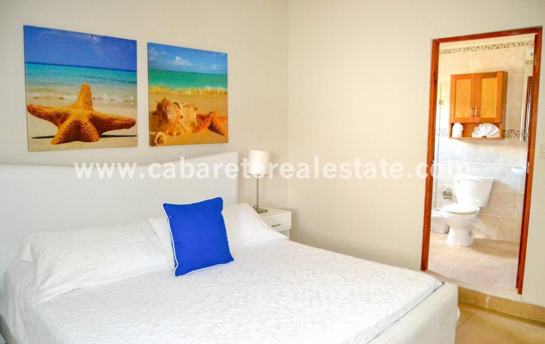 kingsize bed in beautiful luxus apartment beachfront cabarete town dominican republic