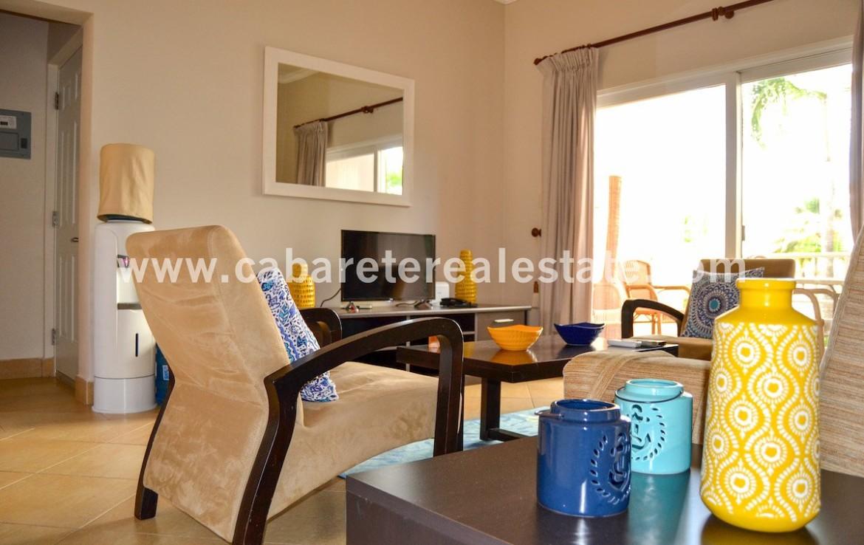 living room luxury apartment cabarete