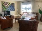 livingroom at the beachfront condo cabarete
