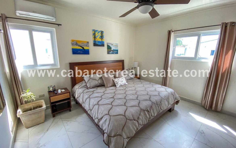 luxurious bedroom in beachfront condo in cabarete bay