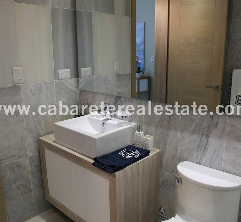 luxury bathroom in beachfront apartment cabarete
