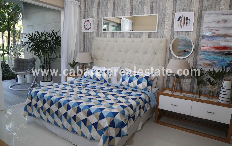 luxury masterbedroom with stunning garden and ocean view in cabarete