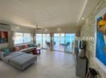 modern livingroom in beachfront penthouse direct in Cabarete bay