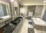 super modern bathroom in beachfront apartment in cabarete