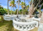 Bar and relaxing area in beachside luxurious villa by the ocean Cabarete Dominican Republic