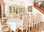 Dining area in luxurious beachside villa Cabarete Real Estate
