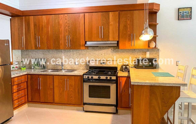 Equipped kitchen in 2 bedrooms beachfront condo Dominican Republic