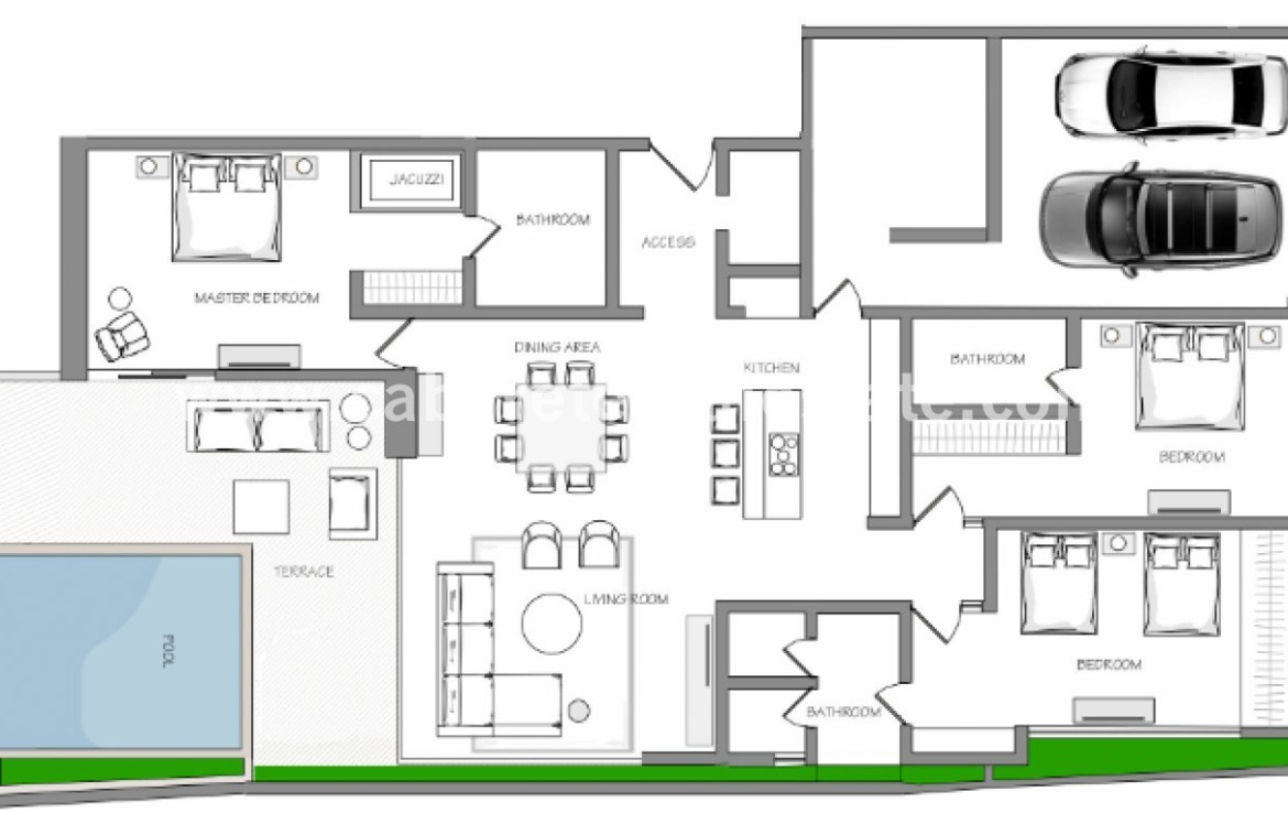 Floorplan 3 bedrooms condo Cabarete Bay Dominican Republic luxury