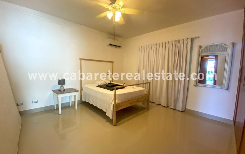 Guest bedroom in beachfront home Cabarete Dominican Republic has it all