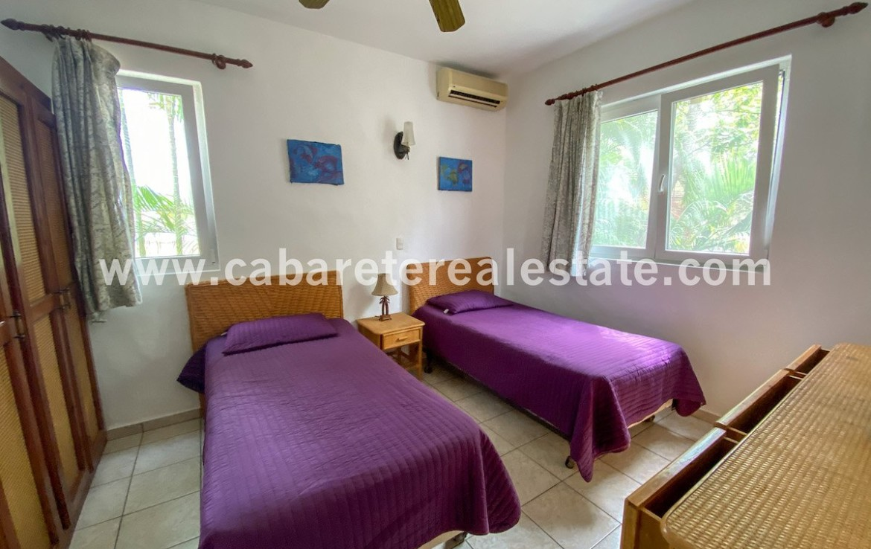 Guest bedroom tropical views Cabarete town 2 bedroom condo