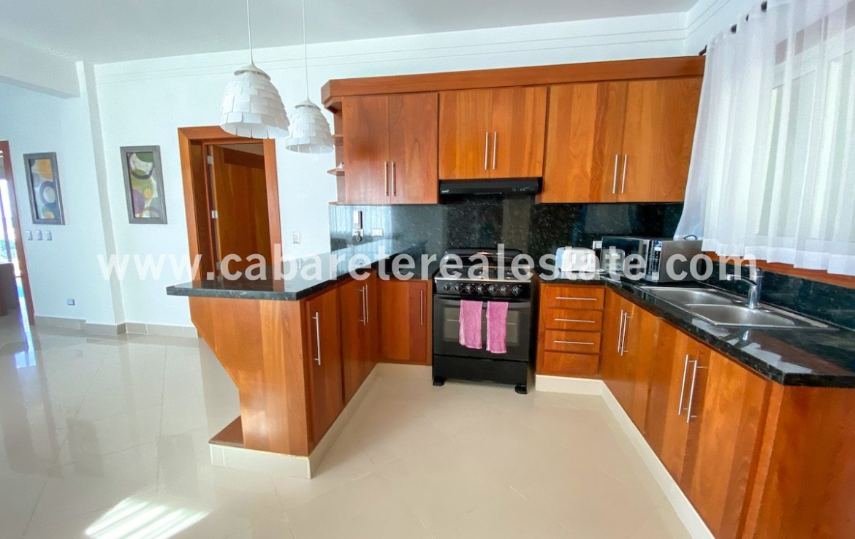 Kitchen in beachfront home Cabarete Real Estate Dominican Republic