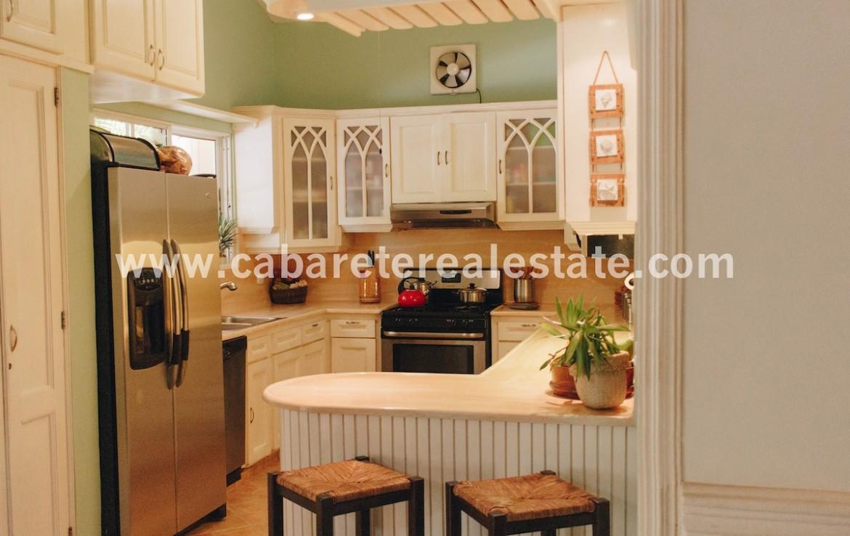 Kitchen in villa close to the beach and surfspot Cabarete