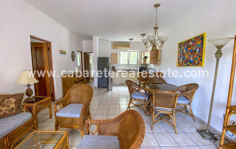 Living area 2 bedroom apartment cabarete