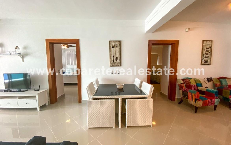 Living area Cabarete beachfront home Dominican Republic