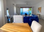 Living area beachfront home in secure gated complex on the beach Cabarete Real Estate