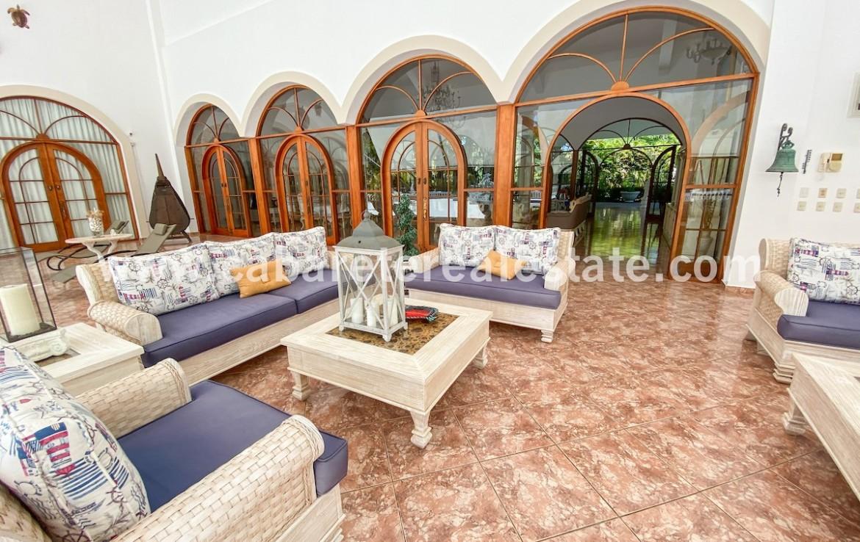 Living area in villa in gated beachside community Cabarete Dominican Republic