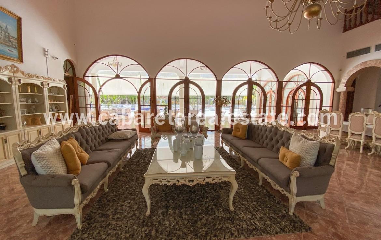 Living area luxurious villa Cabarete Dominican Republic