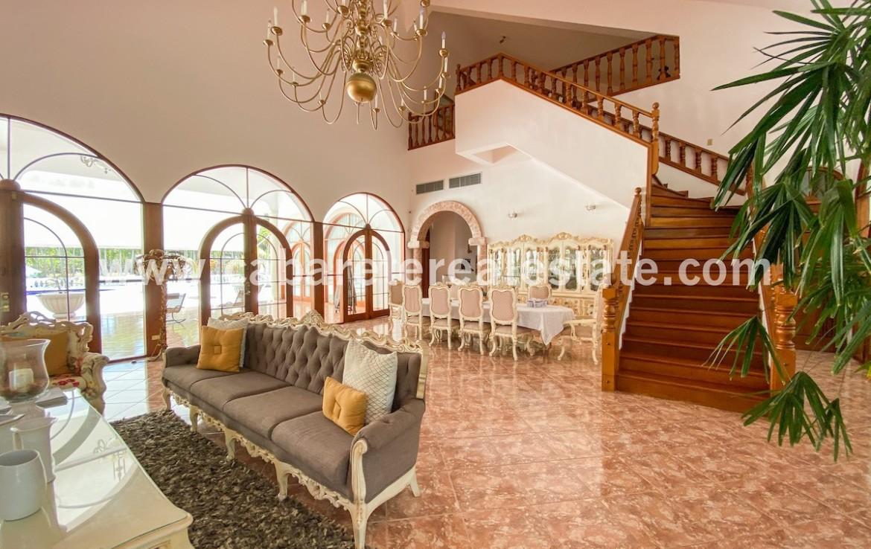 Living area luxury villa Cabarete Real Estate Dominican Republic