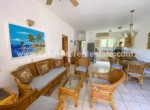 Living area two bedrooms beachside condo Cabarete