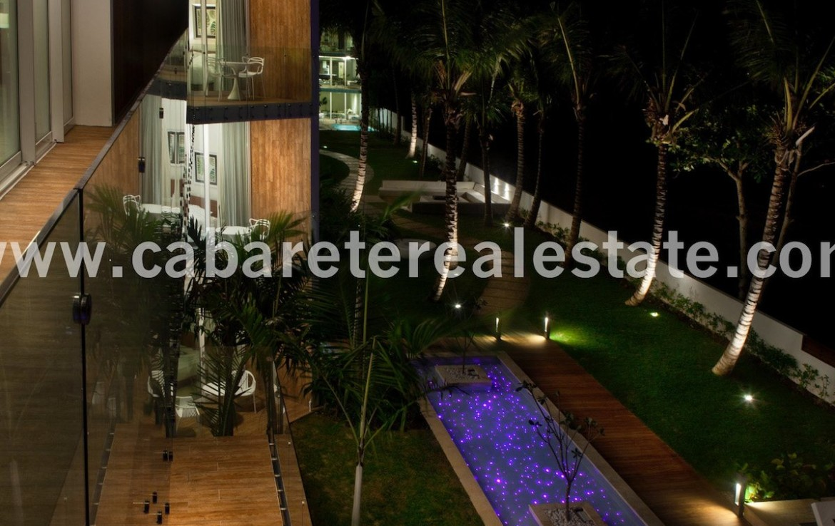 Luxury by the beach at night Cabarete Real Estate Dominican Republic