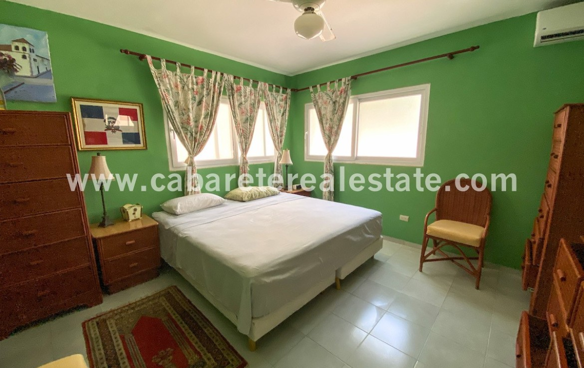 Master bedroom Cabarete Beach front apartment