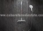 Modern shower in bathroom 2bedroom beachfront condo Cabarete Dominican Republic