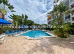 Pool area beachside condo Cabarete town Dominican Repbublic