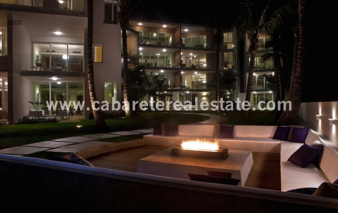Relax around the fire in your beachfront home Cabarete Real Estate
