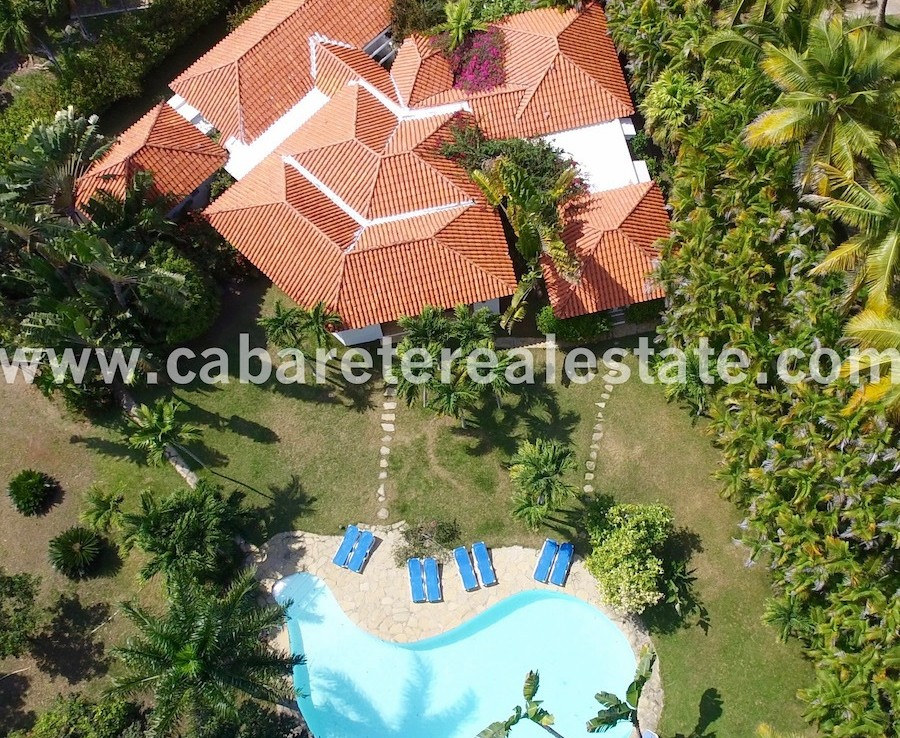aerial pool and garden view of this stunning villa in the best luxury gated community between sosua and cabarete 1 1