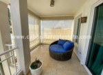 chill area at this spacious terrace with amazing ocean view in this luxury apartment in cabarete east