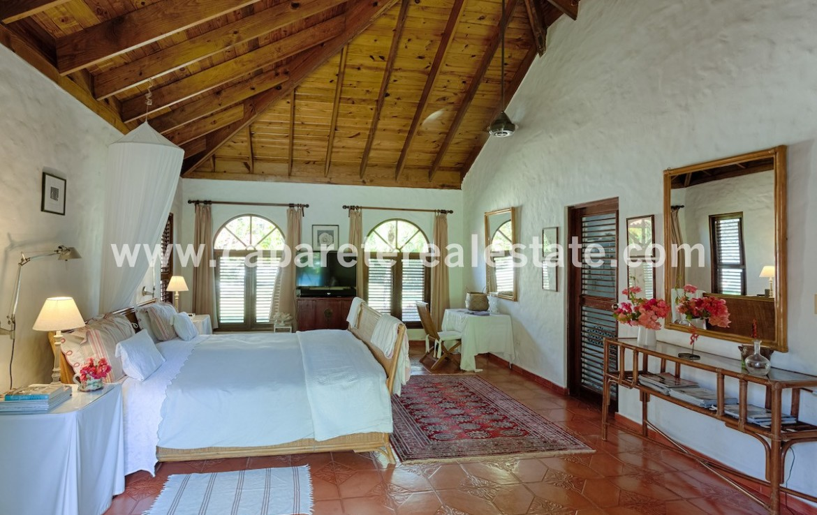 master bedroom in this luxury villa in the best gated community on the north coast of the dominican republic just between sosua and cabarete