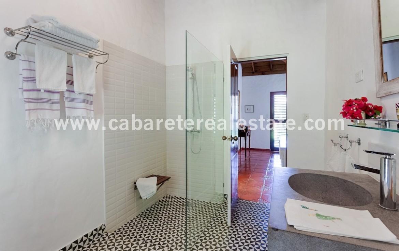 modern decorated bathroom in luxury beachfront villa