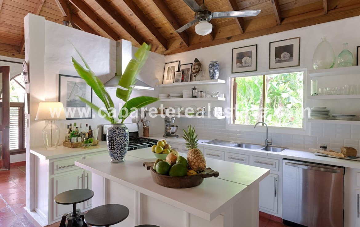 modern kitchen in this luxury beachfront villa on the north coast of the dominican republic