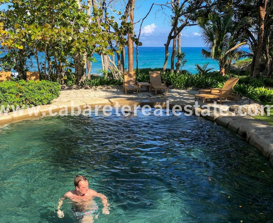oceanfront swimming pool in the best gated community on the northcoast of the dr