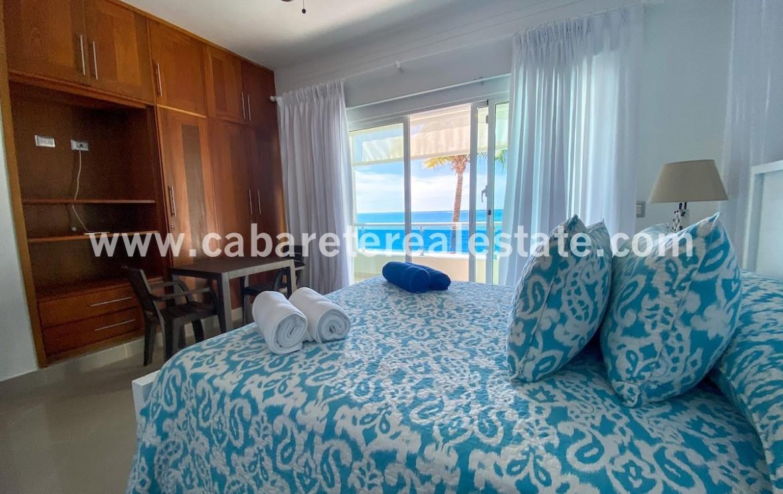oceanview master bedroom in beachfront home Cabarete Bay Dominican Republic Real Estate Deal